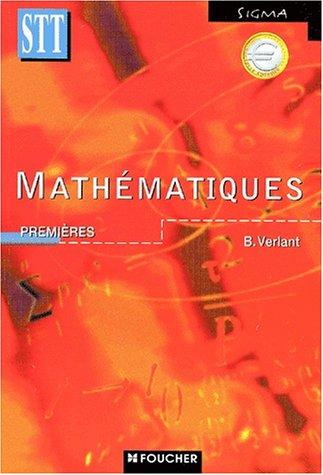 9782216089475: Mathématiques, 1ère Bac STT