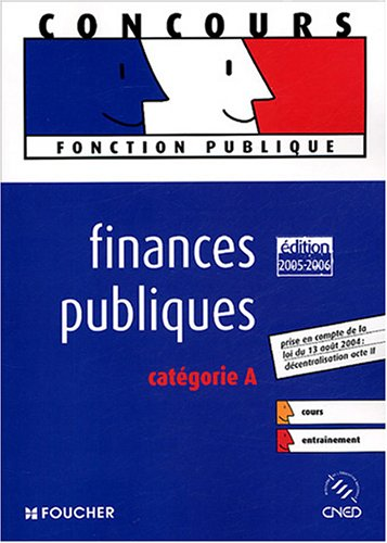 FINANCES PUBLIQUES. CATEGORIE A