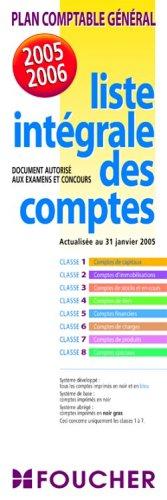 9782216101443: Plan comptable général 2005-2006 : Liste intégrale des comptes (dépliant plastifié)