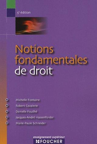 9782216105472: NOTIONS FONDAMENTALES DE DROIT (Ancienne édition)