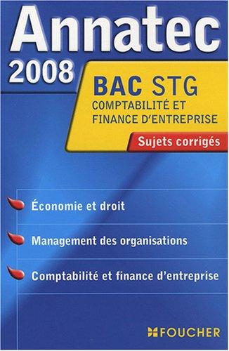 9782216107209: ANNATEC 2008 BAC ECO DROIT MANAG-C.F.E STG (Ancienne édition)
