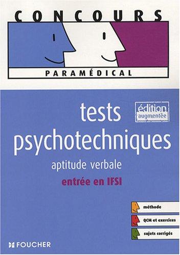 9782216107797: Tests psychotechniques : Aptitude verbale entrée en IFSI (Ancienne Edition)
