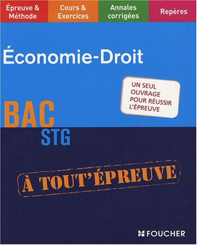 9782216109296: Economie-Droit BAC STG