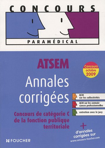 9782216110285: ATSEM, Annales corrig�es : Concours de cat�gorie C de la fonction publique territoriale