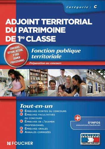9782216114962: Adjoint territorial du patrimoine de 1re classe