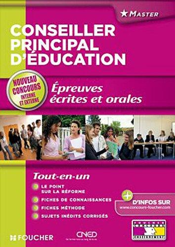 9782216115372: Conseiller principal d'éducation épreuves écrites et orales