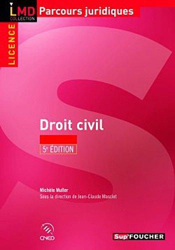 Droit civil 5e édition - Jean-claude Masclet et Michèle Muller