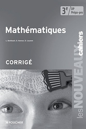 9782216117093: Math�matiques 3e Pr�pa - Pro Corrig�