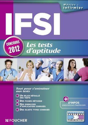 9782216117659: IFSI les tests d'aptitude Concours 2012