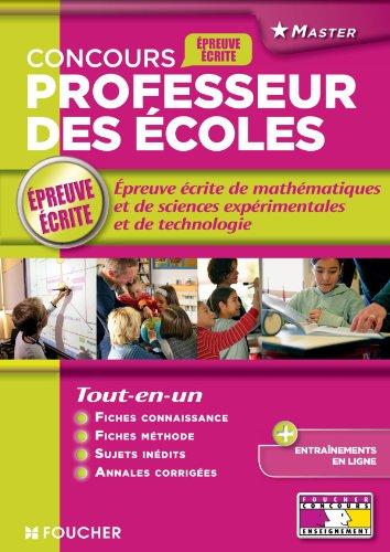 9782216118083: Epreuve �crite de math�matiques et de sciences exp�rimentales et de technologie: Concours professeurs des �coles