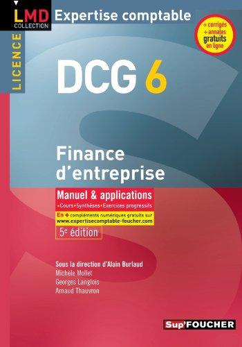9782216121137: DCG 6 Finance d'entreprise 5e édition