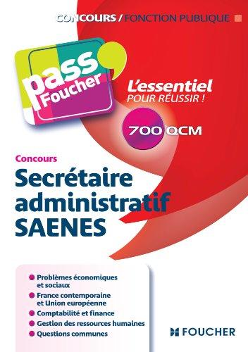 9782216122431: Concours Secrétaire administratif SAENES