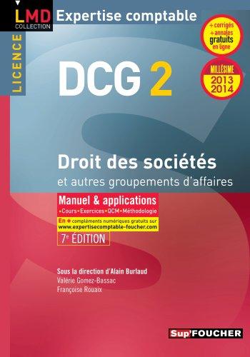 9782216123315: DCG 2 Droit des sociétés et autres groupements d'affaires 7e édition Millésime 2013-2014