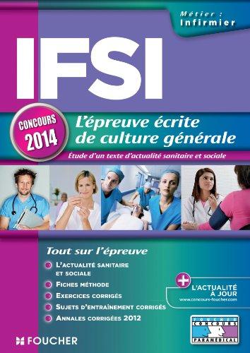 9782216124190: IFSI l'épreuve écrite de culture générale concours 2014