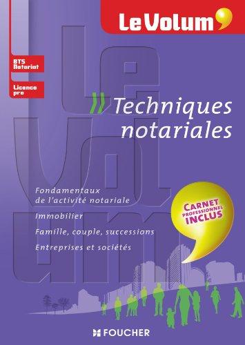 9782216124275: Le Volum' Techniques notariales