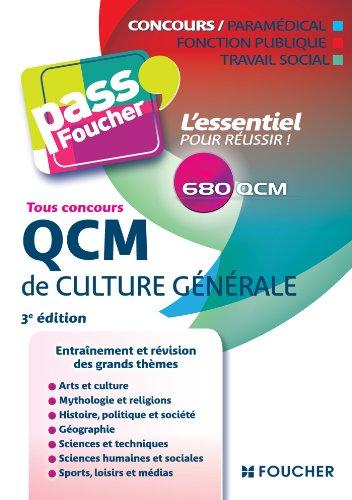 9782216124824: Pass'Foucher - QCM de culture générale Tous concours 3e édition
