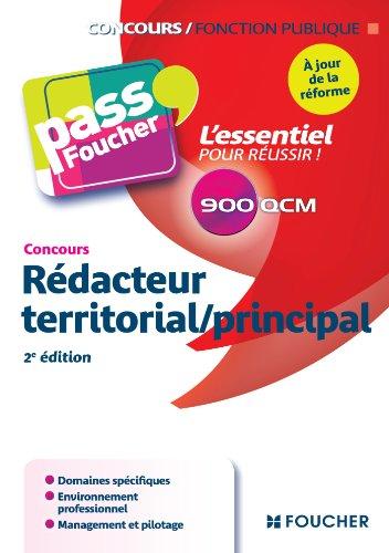 9782216124831: Pass'Foucher - Concours Rédacteur territorial / principal 2e édition à jour de la réforme
