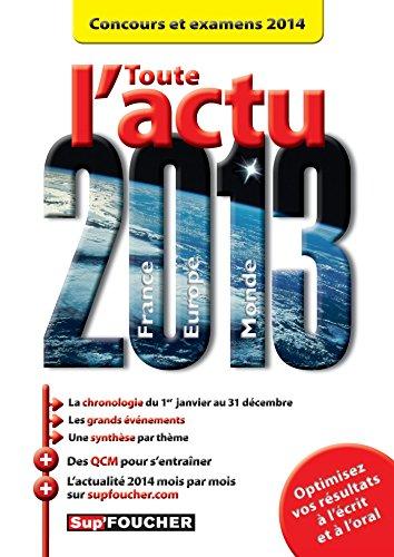 9782216125319: Toute l'actu 2013 Concours et examens 2014