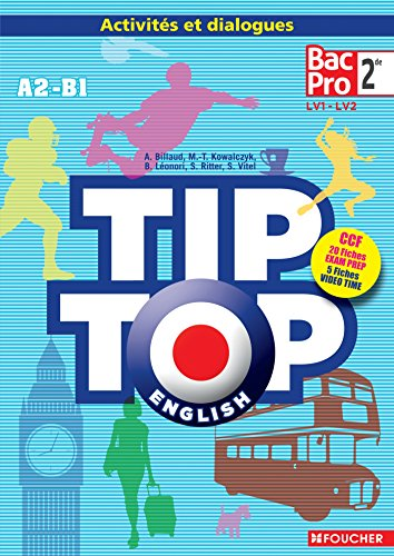 9782216126965: TIP-TOP ENGLISH Seconde Bac Pro CD Audio