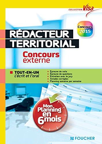 9782216127979: Visa - R�dacteur territorial - Concours externe - Mon planning en 6 mois