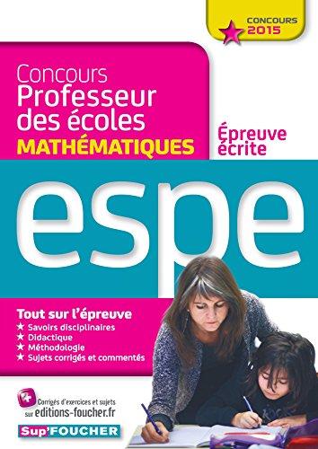 9782216128433: Concours Professeur des �coles - Epreuve �crite de Math�matiques - Concours 2015 - N�01