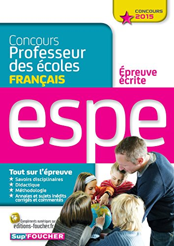 9782216128440: Concours Professeur des �coles - Epreuve �crite de Fran�ais - Concours 2015 - N�02