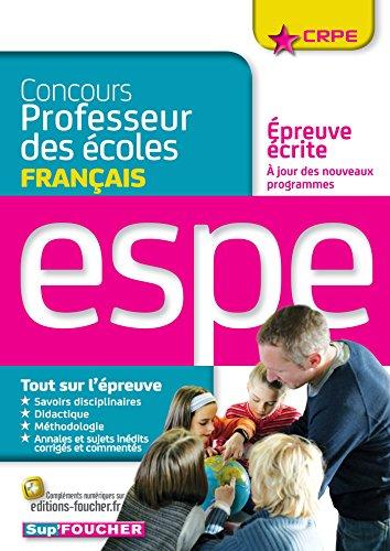 9782216129393: concours professeur des écoles ; épreuve écrite de français ; concours n°2 (édition 2016)