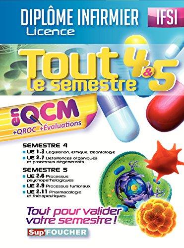 9782216133260: IFSI - Tout le semestre 4 & 5 en QCM et QROC - Diplôme infirmier