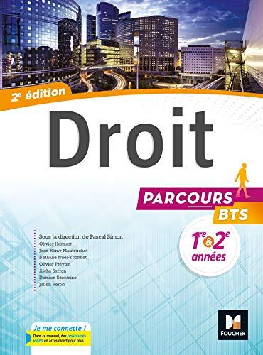 9782216145904: Parcours - DROIT BTS 1re et 2e années - Éd. 2017 - Manuel élève