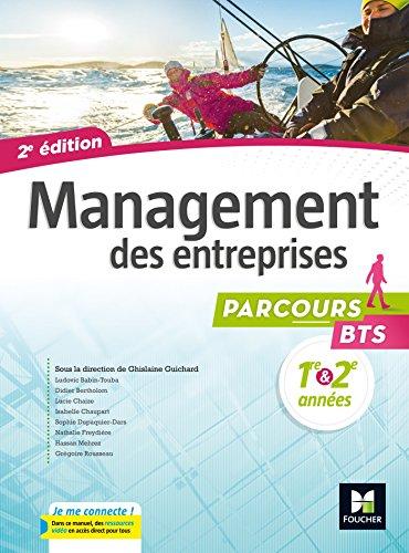 9782216145935: Parcours - MANAGEMENT DES ENTREPRISES BTS 1re et 2e années - Éd. 2017 - Manuel élève