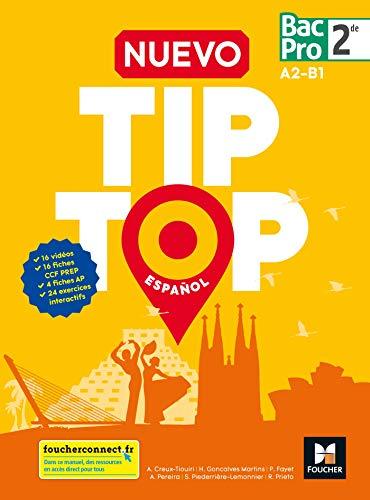 9782216148479: NUEVO TIP TOP Español 2de BAC PRO - Éd. 2018 - Manuel élève