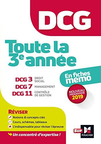 9782216152933: DCG : Toute la 3è année du DCG 3, 7, 11 en fiches - Révision