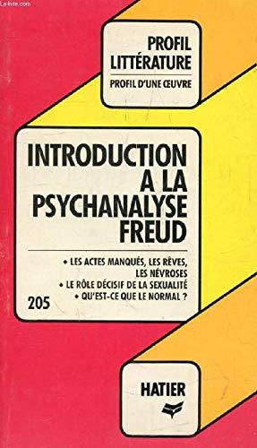 "Introduction a la psychanalyse"", Freud: Analyse critique,: Haar, Michel"