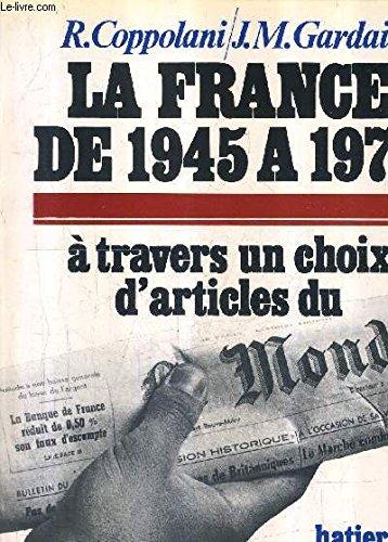 La France de 1945 ? 1976 v1: Sabbah, Monique