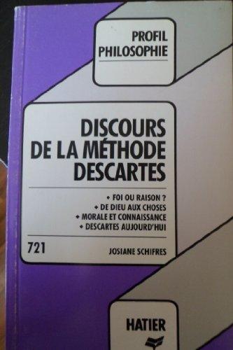 9782218045370: Profil d'une Oeuvre : Discours de la méthode profil n°721