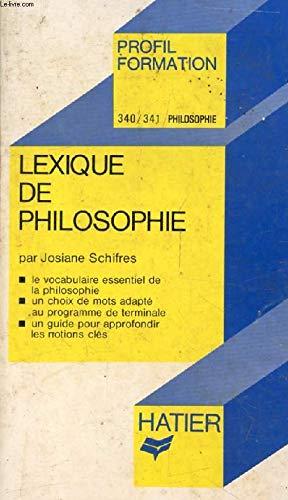 9782218051944: Lexique de philosophie