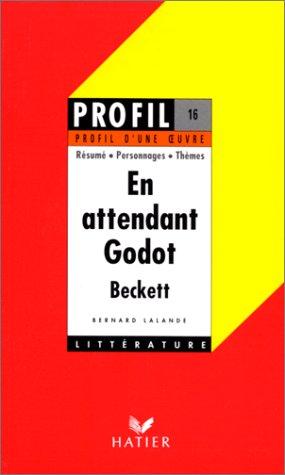 9782218052873: En Attendant Godot: Profil