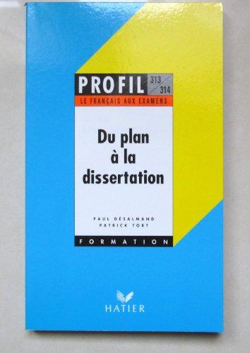 9782218054075: Du plan a la dissertation (Profil formation)