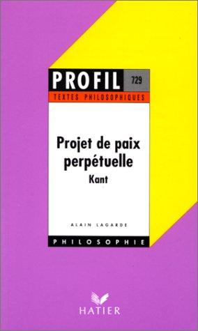 9782218054556: Projet de paix perpetuelle, textes philosophiques