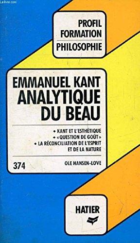 ANALYTIQUE DU BEAU H6: Emmanuel Kant