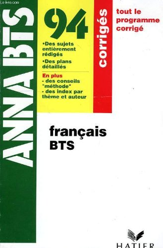 9782218070068: Annabts, 94, francais bts, corriges