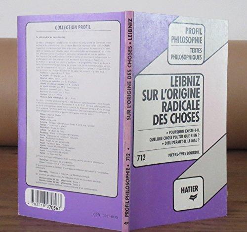 Leibnitz cause dieu (Profil philosophie): Gottfried-Wilhelm Leibniz