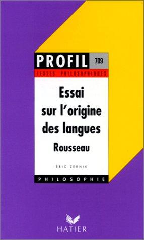 9782218076541: Essai sur l'origine des langues de Jean-Jacques Rousseau