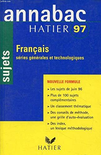 Annabac 97 sujets français toutes series h71608: Boudou-B