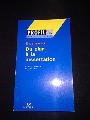 9782218716805: Du plan a la dissertation profil pratique