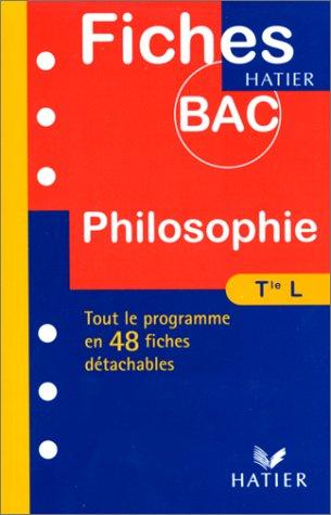 9782218722400: Fiches Bac philosophie, terminale L