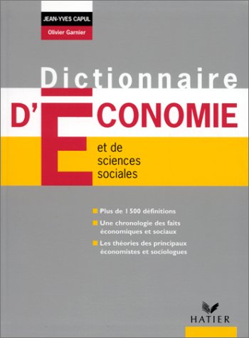 9782218726163: Dict Economie & Sciences Sociales Edit 99 72616