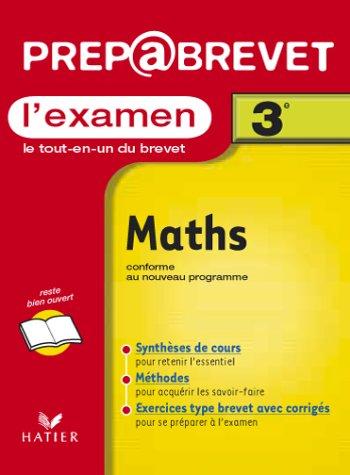 9782218731860: Prépabrevet, l'examen : Maths, 3e