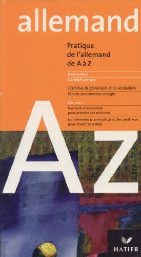 9782218736575: L'Allemand de A à Z, édition 2003