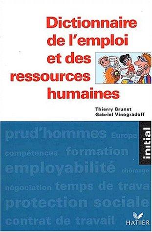 9782218737428: Dictionnaire des ressources humaines
